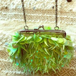Fun green sequin purse!